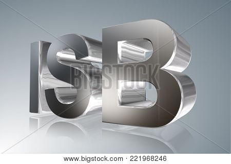 Accounting term - ISB -Independence Standard Board- 3D image