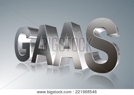 Accounting term - GAAS - Generally Accepted Auditing Standards -  3D image