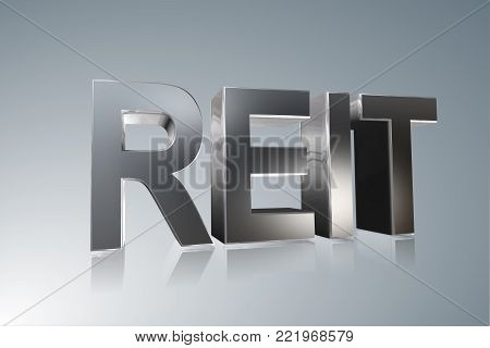 Accounting term - REIT - Real Estate Investment Trust  -  3D image