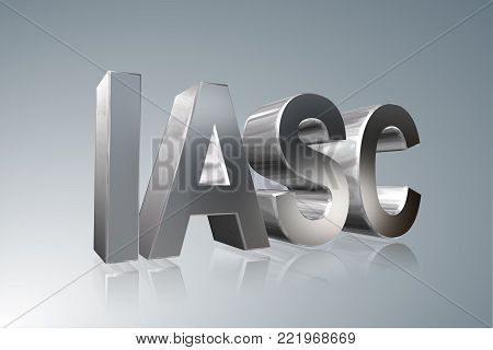 Accounting term - IASC - International Accounting Standards Committee -   3D image