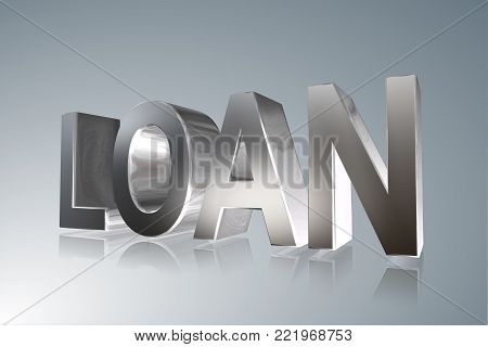 Accounting term - Loan -   3D image