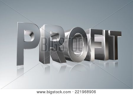 Accounting term - Profit -    3D image