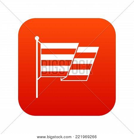 Flag LGBT icon digital red for any design isolated on white vector illustration