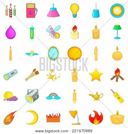 Electrical source icons set. Cartoon style of 36 electrical source vector icons for web isolated on white background