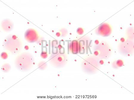 Bright abstract holographic circles retro background. Vector chromatic modern design
