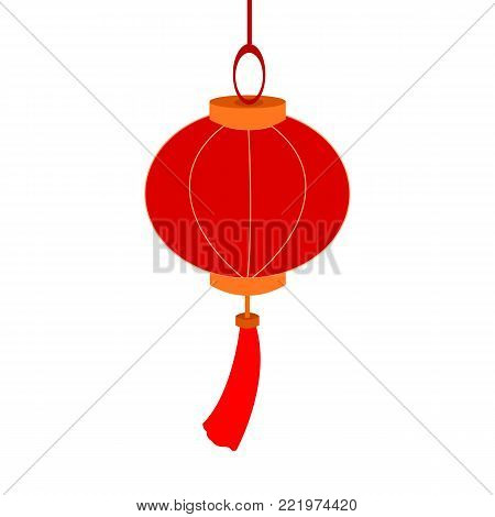 Hanging Decoration Chinese Lantern Paper Vector Illustration Graphic Design