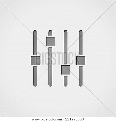 Illustration of control panel grey icon concept