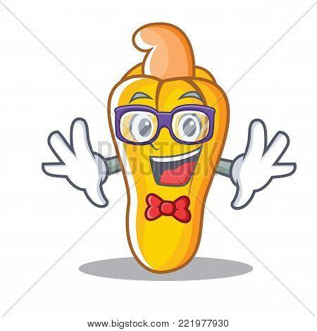 Geek cashew character cartoon style vector illustration