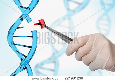Genetic Engineering And Gene Manipulation Concept