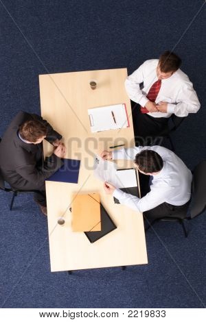 Three Men Business Meeting - Job Interview