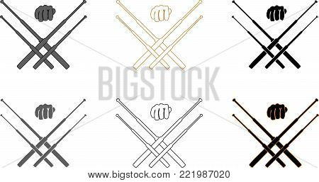 Telescopic batons self defence training and security  logotype