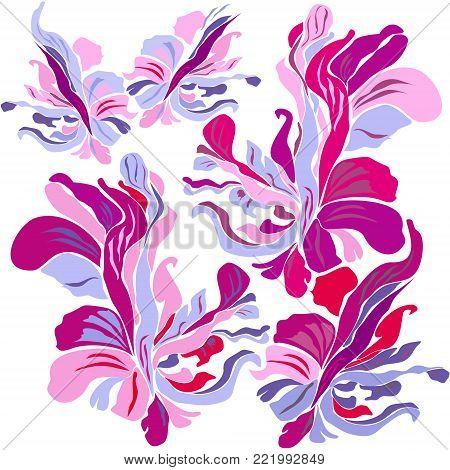 floral motifs. floral motifs. floral backgrounds. drawn vector