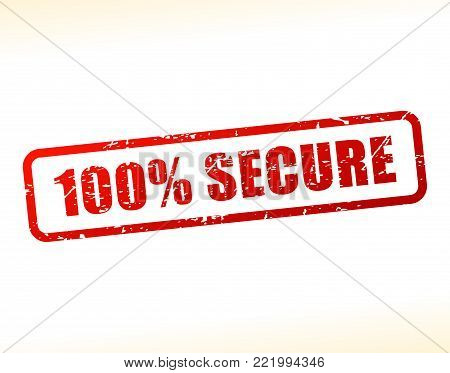 Illustration of secure text buffered on white background