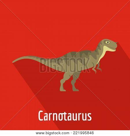 Carnotaurus icon. Flat illustration of carnotaurus vector icon for web.