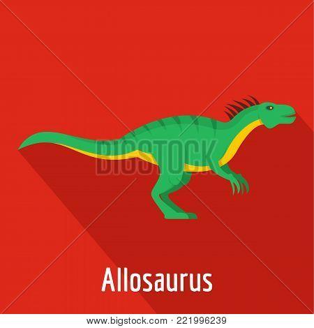Allosaurus icon. Flat illustration of allosaurus vector icon for web.