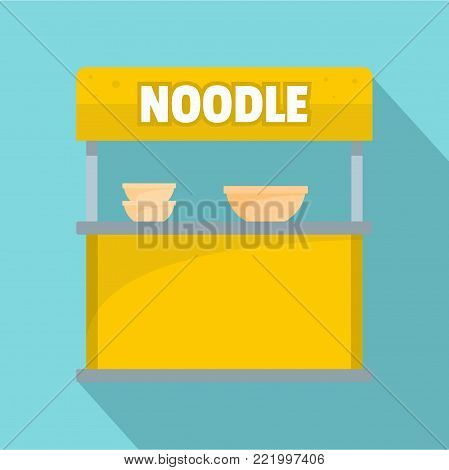 Noodle selling icon. Flat illustration of noodle selling vector icon for web.