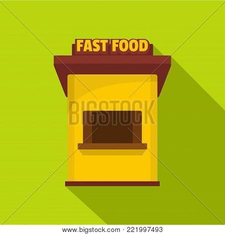 Fast food trade icon. Flat illustration of fast food trade vector icon for web.