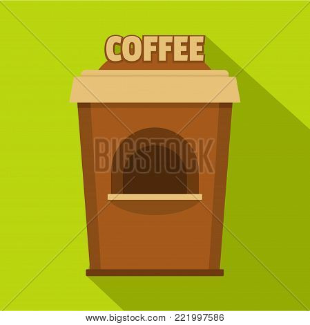 Coffee selling icon. Flat illustration of coffee selling vector icon for web.