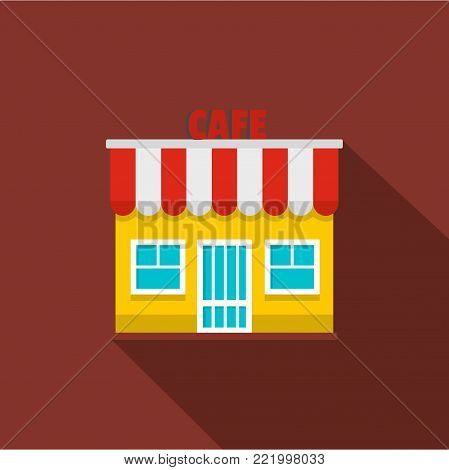 Cafe icon. Flat illustration of cafe vector icon for web.