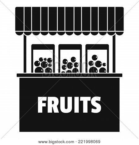 Fruits selling icon. Simple illustration of fruits selling vector icon for web.