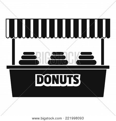 Donuts selling icon. Simple illustration of donuts selling vector icon for web.