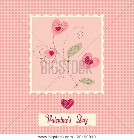 flowers card, valentine's day