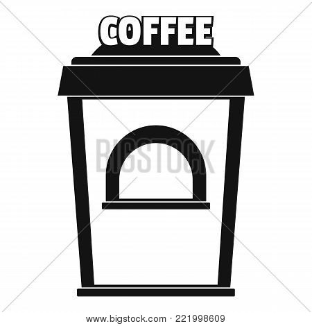 Coffee selling icon. Simple illustration of coffee selling vector icon for web.