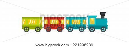 Wagons icon. Flat illustration of wagons vector icon for web.