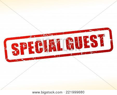 Illustration of special guest text buffered on white background