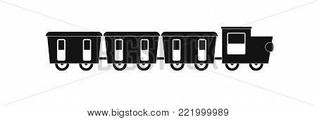 reserved carriages icon. Simple illustration of reserved carriages vector icon for web.