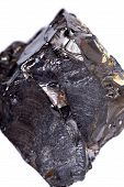 Rough lustrous elite shungite from Russia isolated on white background poster