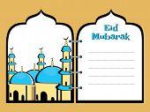 vector eid mubarak concept diary poster