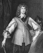 Prince Rupert of the Rhine (1619-1682). Engraved by J.Cochran and published in Portraits And Memoirs Of The Most Illustrious Personages encyclopedia, United Kingdom, 1836. poster