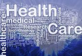Background concept wordcloud illustration of health care international poster