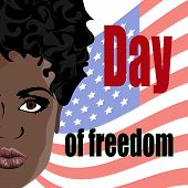 international day of the abolition of slavery in the United States, the day of freedom of slaves, vector illustration eps10 poster