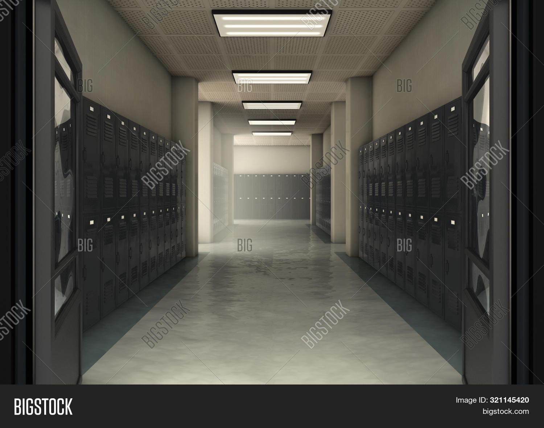 School Locker Corridor Image Photo Free Trial Bigstock