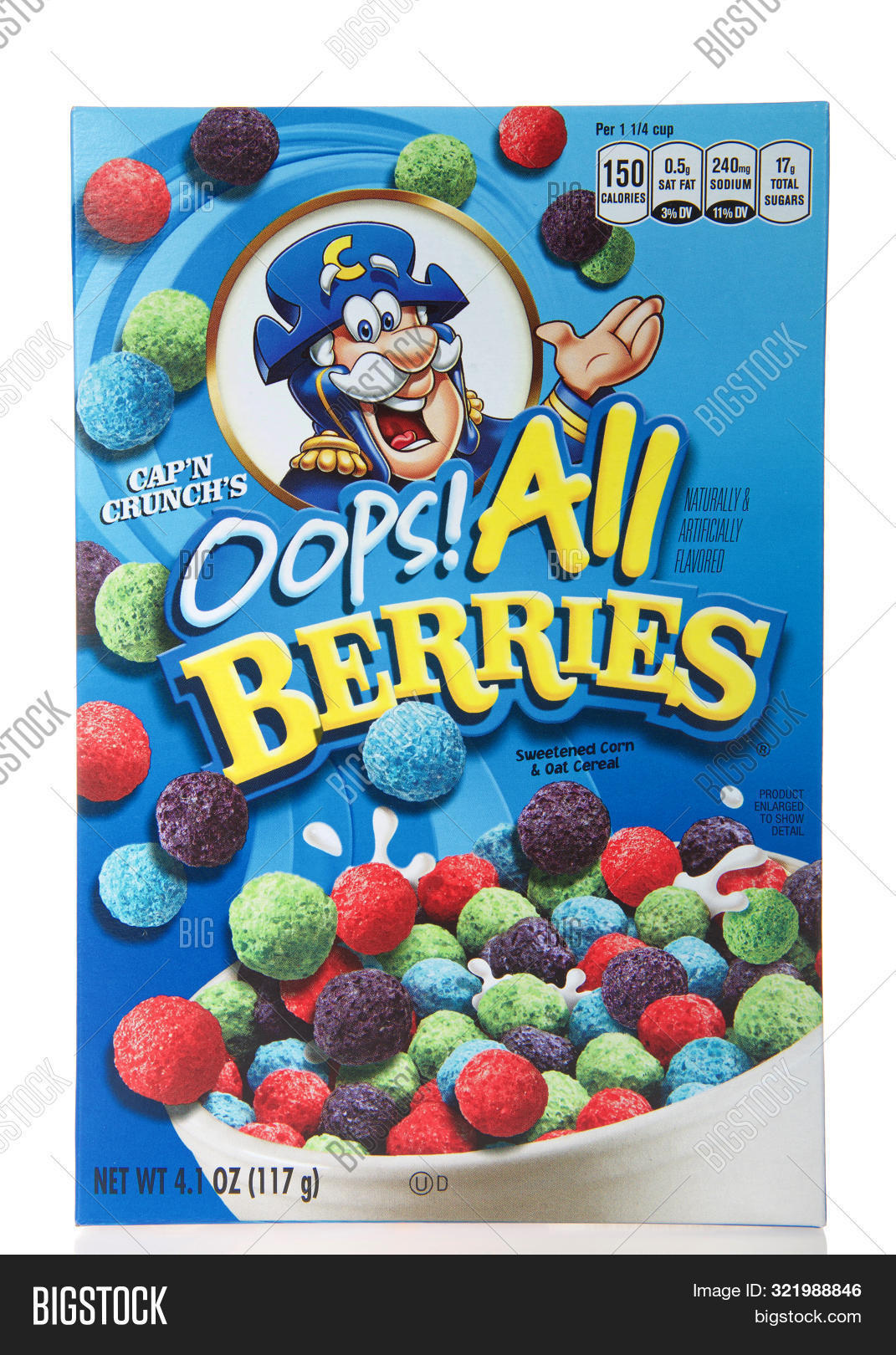Oops All Oops All Berries : Flash forward to today (almost 20 years after this mistake was first made) and we find the cap'n still trying to market this cereal as an accident.