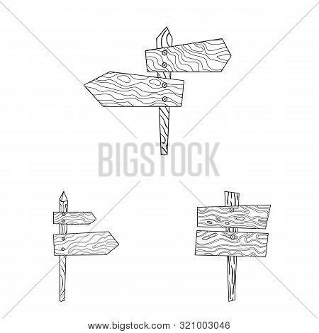 Vector Illustration Of Hardwood And Material Icon. Set Of Hardwood And Wood Stock Symbol For Web.