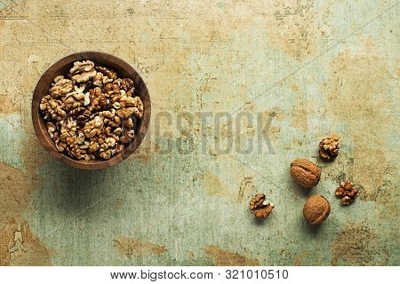 Assortment Of Walnuts. Concept For Healthyfood Or Healthyfats