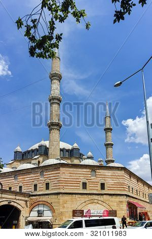 Edirne, Turkey - May 26, 2018: Built By Architect Mimar Sinan Between 1569 And 1575 Selimiye Mosque