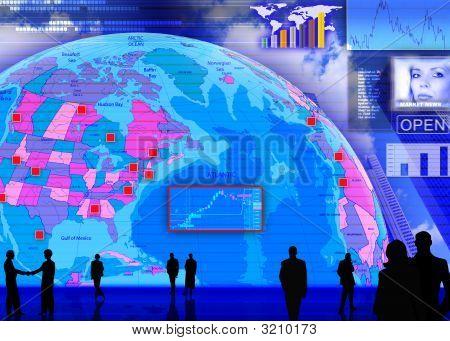 Currency Exchange Market Scene