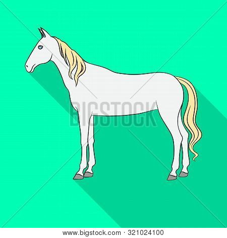 Isolated Object Of Steed And White Symbol. Set Of Steed And Hoofed Stock Symbol For Web.