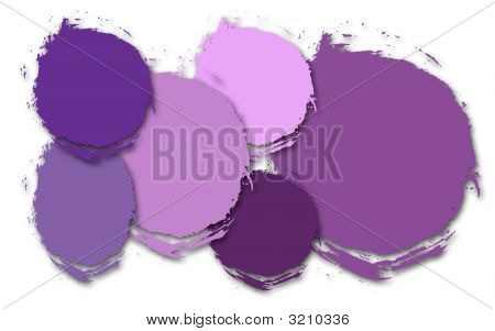 Shades Of Purple Abstract Circles