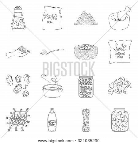 Vector Design Of Sodium And Mineral Icon. Collection Of Sodium And Kitchen Stock Vector Illustration
