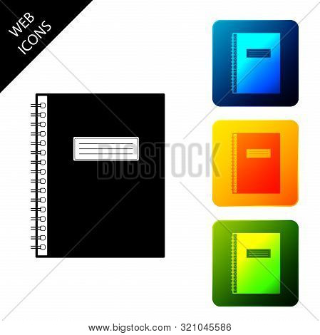 Notebook Icon Isolated. Spiral Notepad Icon. School Notebook. Writing Pad. Diary For Business. Noteb