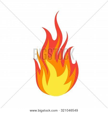 Fire Emoji. Simple Light Creative Dangerous Energy Flame Burns Fired Symbol Isolated Vector Burning