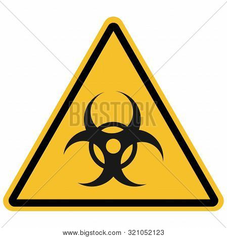 Triangle Biohazard Sign, Warning Symbol Vector On White Background. Great For Icon,symbol,sign,label