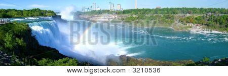 Panorama Of Niagara Falls Retouched