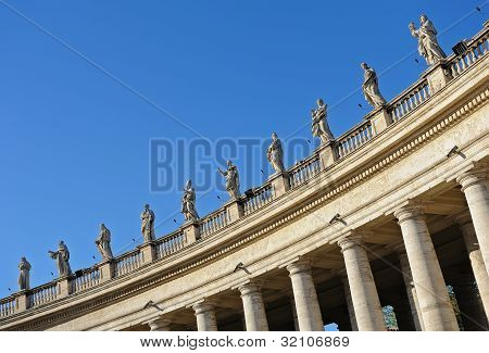 Colonnade. Rome, Italy.
