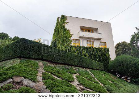 Exterior Of Villa Mueller Functionalist Residential House Buildt By Adolf Loos And Karel Lhota In 19